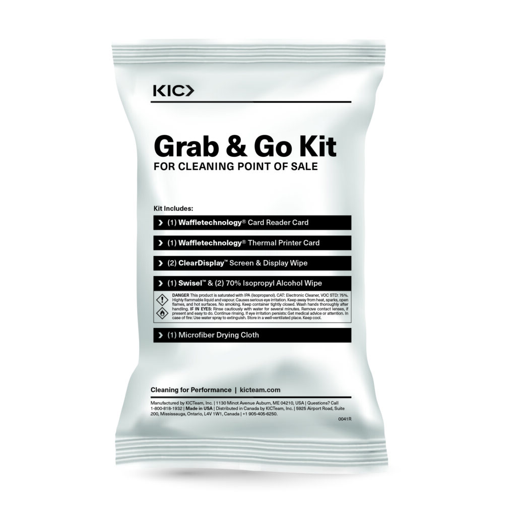 Grab 'n Go Cleaning Kits for Point of Sale Systems